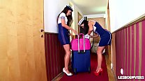 Crazy Hot Spanish Stewardess Sex with Lorena & Alexa Tomas thumbnail