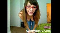 Geeky babe home strip on cam pornhub video