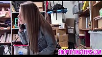 Slutty delinquent sucking and fucking mall cop ...