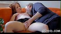Young  hotty impaled on old rod