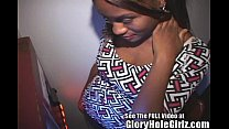 Ebony Girl Using Her Tongue Ring in the Gloryhole thumb