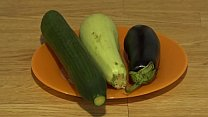 Organic anal masturbation with wide vegetables,... Thumbnail