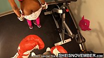 11560 Boxing Big Black Ass In Slow Motion Jiggle Punching Little Petite Babe Msnovember Curvy Booty In Public Gym Exercise Workout With Old Man Attacking Her Ass Cheeks Fighting Her Booty 4k UHD  Sheisnovember preview