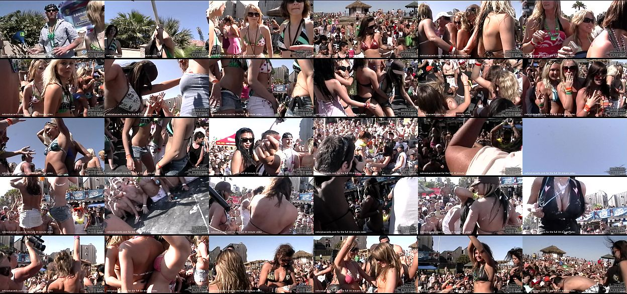 Spring break nude party videos