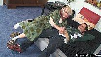 Lonely 70 years old granny slammed from behind Vorschaubild