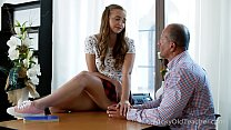 Tricky Old Teacher - Playful teen teases experi...