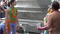 BODY PAINTING NYC ARTISTS-ANDY GOLUB AND COMPANY porn image