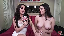 GIRLS GONE WILD - Sofia Plays With Her Wet Pussy On The Club Couch