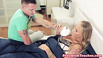 Tattooed stepmom with bigtits pussyfucked thumbnail