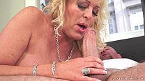 Lusty Grandma Magdi amazing cock riding
