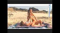 Surfer slut Asia has oral sex on beach then fucks's Thumb