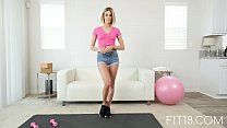 Free download video bokep FIT18 - Emma Hix - 47kg - Casting Skinny Canadian Blonde - 60FPS