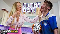 BANGBROS - English MILF Rebecca More Fucks Her Filthy Step Son Sam Bourne