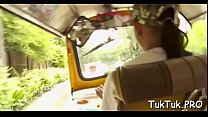 Beautiful thai girl gives an oral pleasure to h...