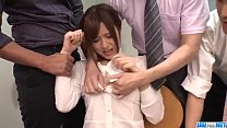 Yumi Maeda starts having sex at work with her colleagues porn thumbnail
