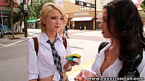 ExxxtraSmall Petite redhead and latina teens on...