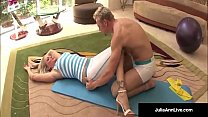 Julia Ann Bangs Yoga Instructor & Gets A LOAD O...