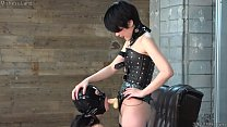 Japanese Dominatrix Fucks with Strap on Dildo