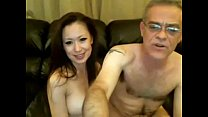 Old Man and Chinese Girl on Webcam preview image
