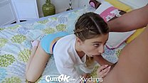 CUM4K Step dad sex education FUCK with CREAMPIE thumbnail