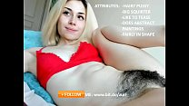 sexy adorable pale girl masturbate hairy pussy