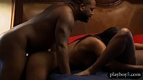 Black couple invites a stripper for a hot three...