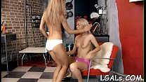 2 gorgeous clean hairless teens love to have lesbian fun