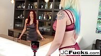 Sexy bartender earns an extra tip from her diva customer pornhub video
