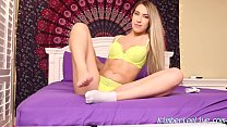 Teen Step Sister Kimber Lee Teases Step Brother With Feet! video