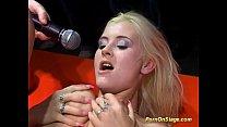 Blonde Flexible Lesbian Orgasm On Public Show S...