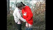 Girl is filmed Sucking Cock in The Woods LOW Thumbnail