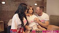 Real sex dolls lesbian Bianka Blue, Estefani Tarrago, Emilio Ardana sexdollsmodels.com