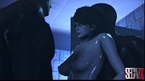 Bayonetta have sex with two mans