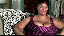 Big beautiful black BBW talks dirty and fucks her wet pussy preview image