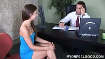 Teen Sophie is very unhappy with her small brea...