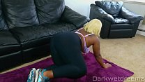 Ebony BBW Bouncing On Pervy Personal Trainers Dick - 9Club.Top