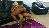 Ebony BBW Bouncing On Pervy Personal Trainers Dick's Thumb