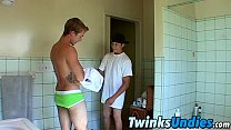 Twink couple wrestling in their underwear