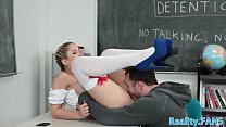 Teenage schoolgirl cockriding her teacher