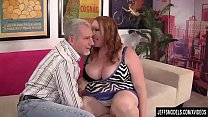 Chubby Redhead Annabel Redd Gets Her Mouth and Pussy Plowed by a Fat Cock pornhub video