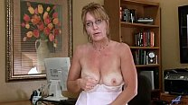 Big Tits Mature Office Masturbation preview image