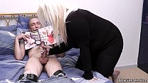 Busty blonde and husband caught cheating preview image