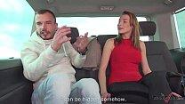 Super Perfect Beauty riding cock in a Van with stranger Vorschaubild