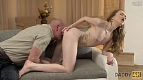 Old4k experienced man drills comely cutie in old and