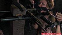 Image: Strappado bondage slut gets flogged