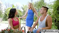 Megan Rain fucked by bf and her stepmom video