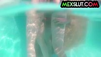 13287 Mexican Slut Janeth Rubio fucked in the swimming pool mexslut sexmex preview
