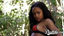 Ebony beauty Amillian Kush filled with BBC befo...