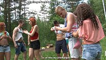 Filthy college sluts turn an outdoor party into wild fuck fest scene 2 - 9Club.Top