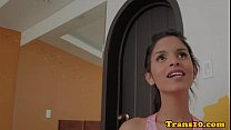Petite latina transsexual fucked doggystyle